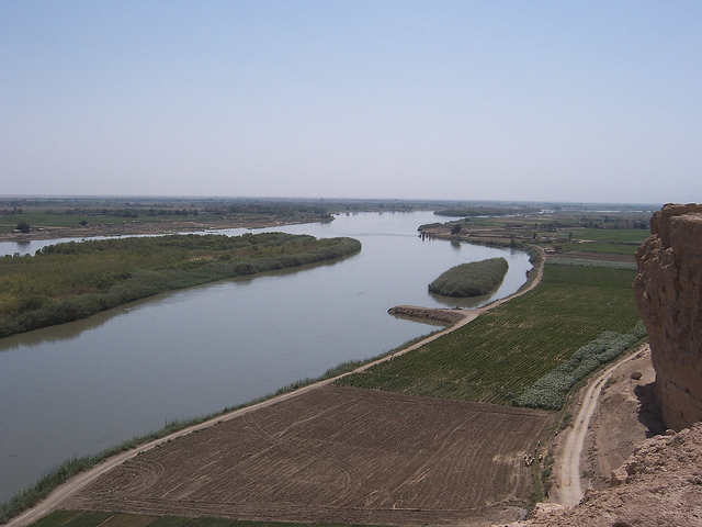 Euphrates River by Dura-Europus, Syria. (V)